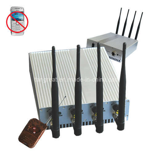 Adjustable Output Power Cell Phone and WiFi or GPS Jammer with Remote Control (TG-101B)