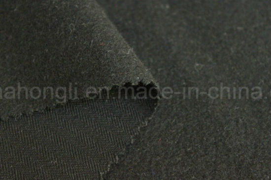 Poly/Rayon Herringbone Twill Fabric, Single Sided Brushed, 245GSM pictures & photos