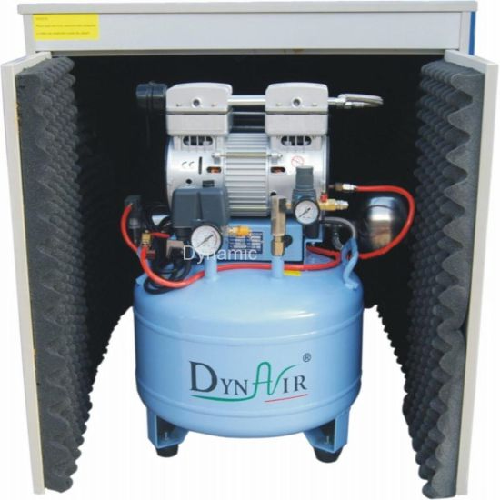 Delicieux Silent Oilless Air Compressor With Air Dryer And Silent Cabinet