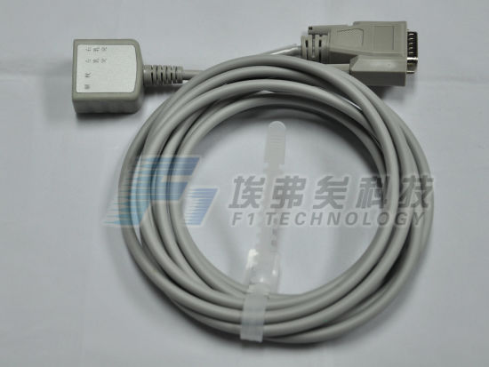 3 Lead Nihon Kohden Reg Blood Flow ECG Cable Wires pictures & photos