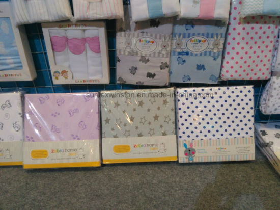 100% Cotton Jersey Baby Bedding Set pictures & photos
