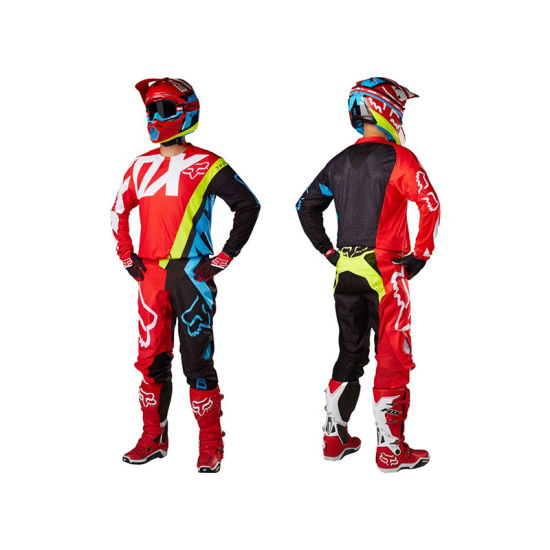 Red Motorcycle Racing Suit Custom Motocross Mx Gear Clothing (AGS01)