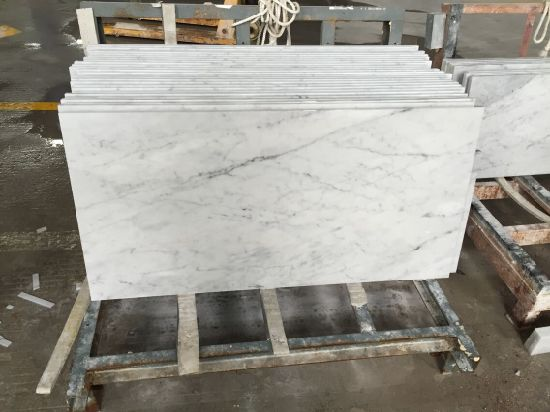 Carrara White Marble Vanity Top for Bathroom pictures & photos