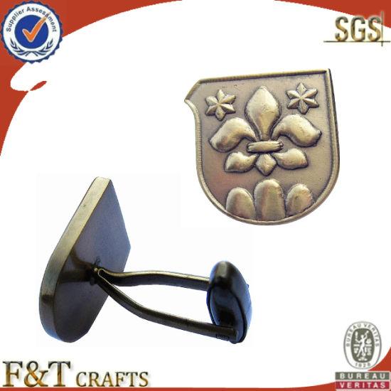 2014 Custom Classical Antique Brass Cufflink for Wholesale