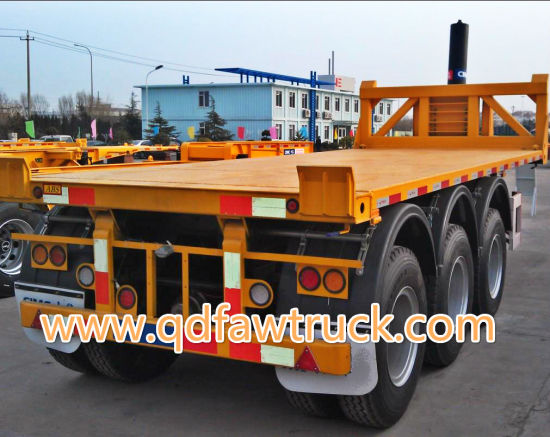20FT container flatbed semi trailer for sale pictures & photos