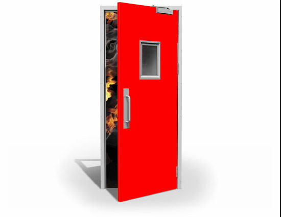 Residential Fire Doors : China steel fire door commercial residential rated