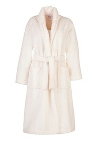 White Fleece Robe