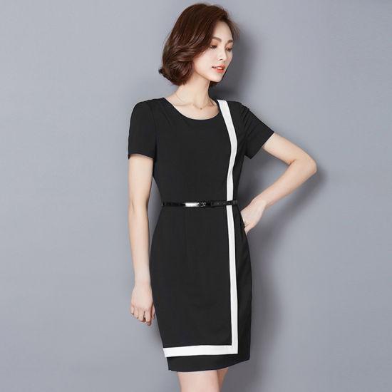 6cce919639d Wholesale Professional Work Dresses Women Career Dresses Ladies Chiffon  Dress pictures   photos