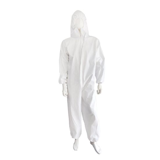 Factory Direct Supply Large Size Protection Suit with Elastic
