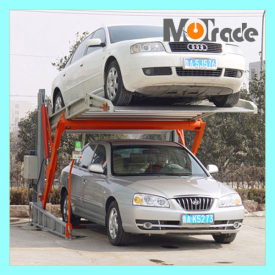 Two Post Tilting Car Lift Parking Management System pictures & photos