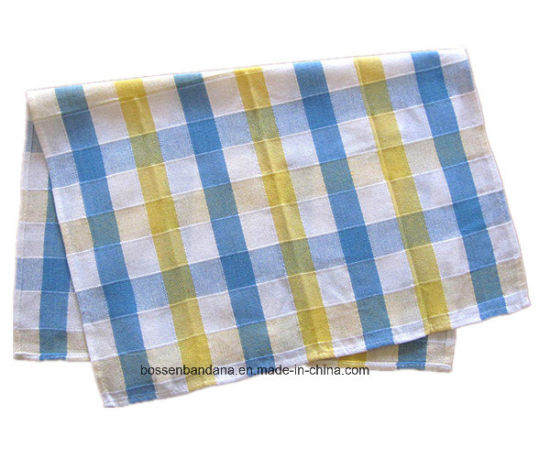 China Factory OEM Produce Customized Cotton Jacquard Checked Table Mat Place Mat Tea Towel pictures & photos
