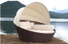 Hot Sale Garden Wicker Daybed with Canopy (ML-136)