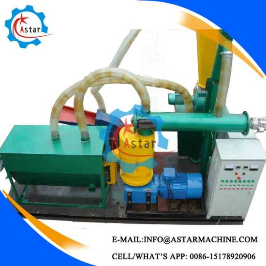 Small Investment 200-500kg/H Flat Die Pellet Making Line for Sale
