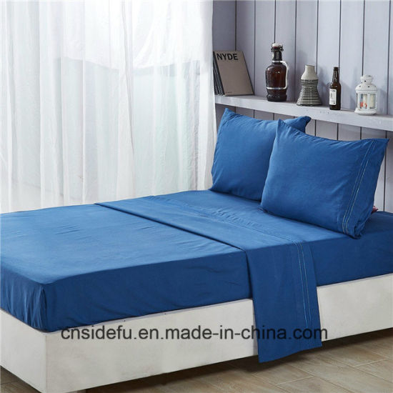 China New Bed Sheet Design Queen Size Fitted Bed Sheet Set China