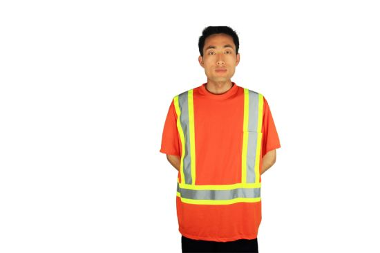 China Custom Embroidery Logo Cheap Hi Vis Workwear Shirt China