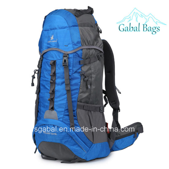 50L Nylon Outdoor Mountaineering Knapsack Casual Hiking Sports Travel Backpack