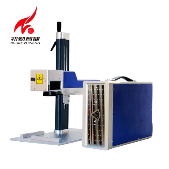 Chuke High Speed Raycus Fiber Mini Portable Metal Laser Marking Machine pictures & photos