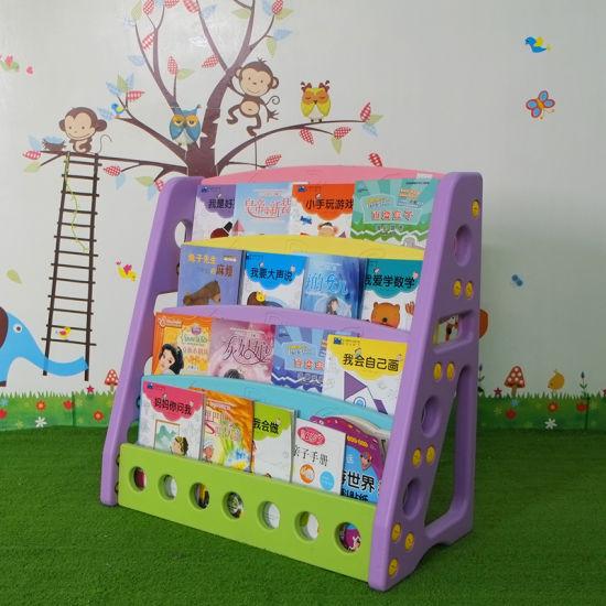 Furniture Plastic Book Shelf Organizer Maganize Rack for Children's/Kids