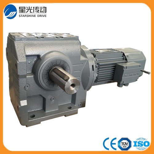 S Serie Right Angle Helical Worm Gear Reducer with Output Shaft