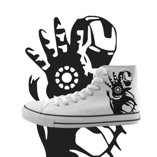 Wholesale Plain White Canvas Shoes Custom Printed Men Hand Painted Canvas Shoes