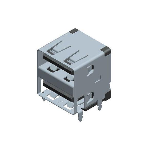 USB Factory Female a Type USB2.0A Femaledouble Jack 13.1 Straight Edge USB Connector