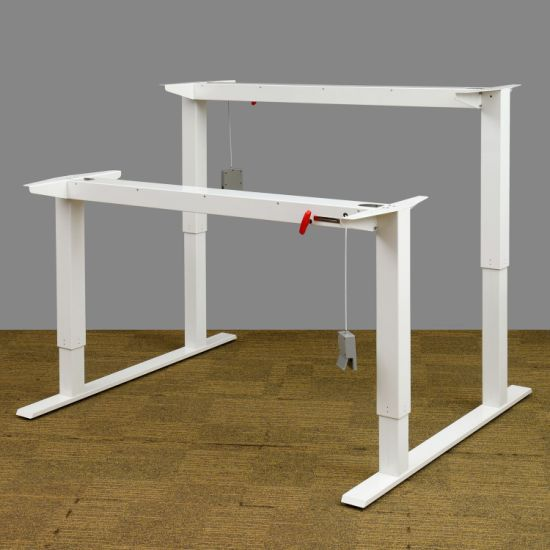 Manual Height Adjustable 2 Persons Office Desk for Office Workstation