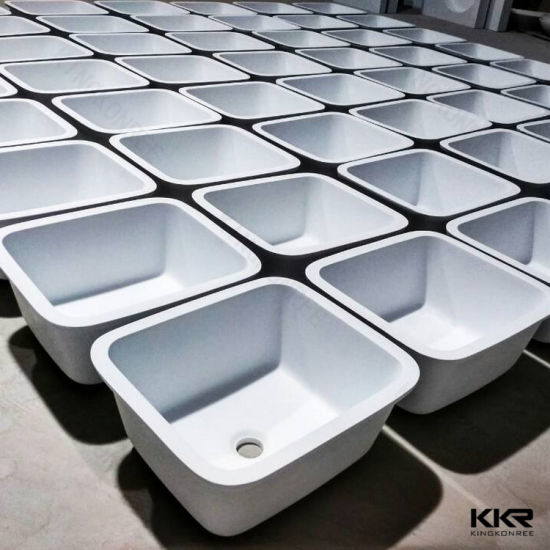 Kkr China Eco-Friendly White Stone Kitchen Undermount Sink