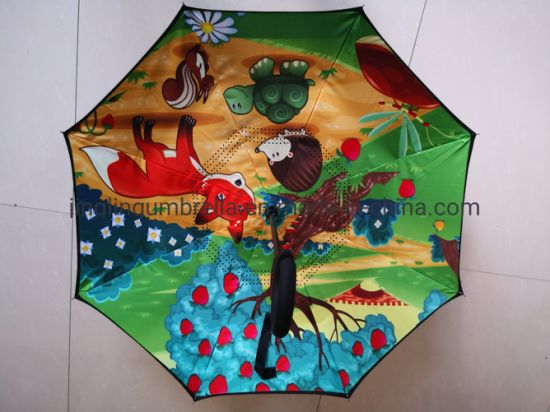 New Design and Pop Nice Kid Inverted Umbrella, 21 Inch Size for Children