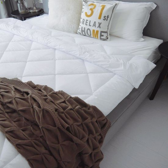Best Selling Home Hotel 100% Cotton Casing with Polyester Filling Quilts Comforters
