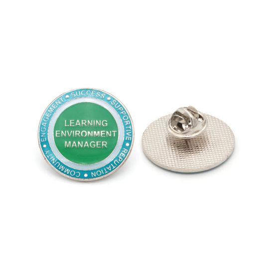 Free Sample Badge Wholesale Design Custom Logo Imitation Hard Enamel Metal Lapel Pin with Safety Pin