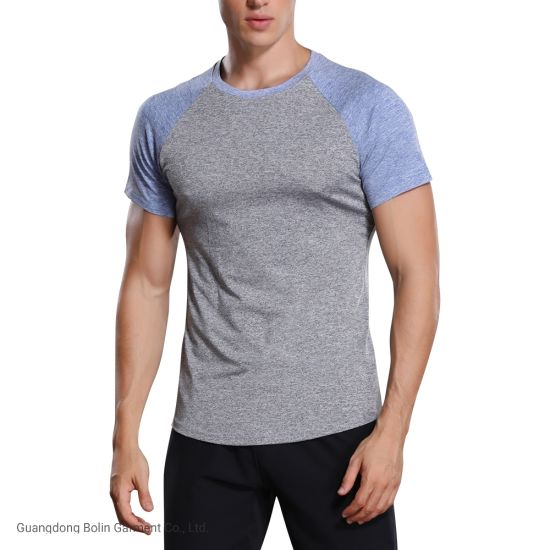 Custom Quickly Dry Polyester Mens Gym T Shirts Sportswear