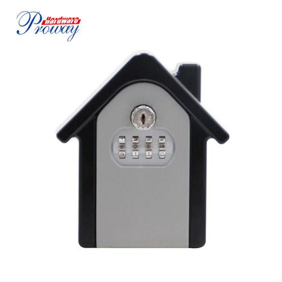 Professional Manufacturer Aluminum Key Lock Box Retrieve Password Wall Mounted Key Safe Box with 4 Digits Combination