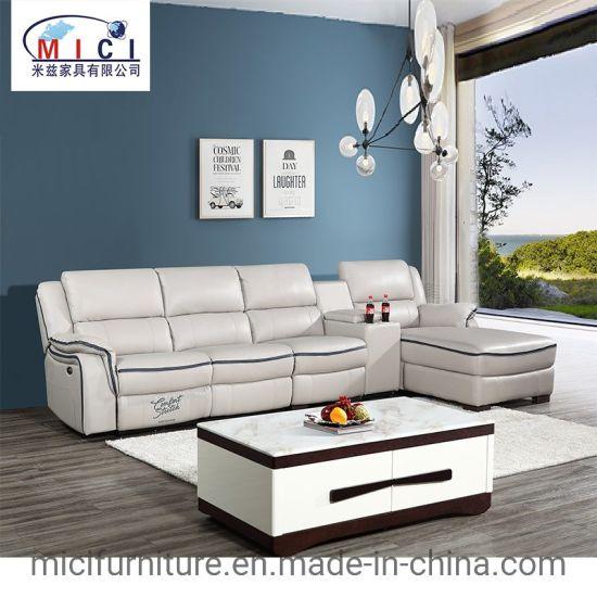 Leisure L Shape Recliner Leather Sofa