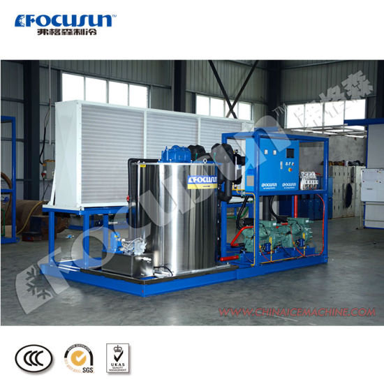 Air Cooling 10ton Fresh Flake Ice Making Machine for Mexico