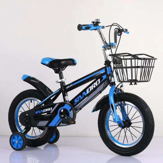 "12/"" Kids Bike Bicycle Children Boys /& Girls with Training Wheels and Basket Blue"