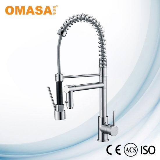 Brass Kitchen Faucet Pull Out Sink Mixer With Sprayer China