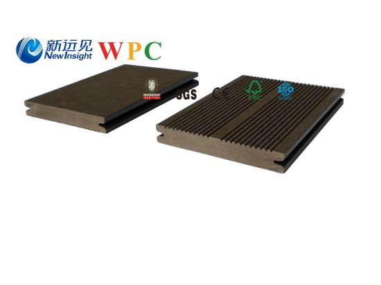 140*20mm Wood Plastic Composite Decking with CE, Fsg SGS, Certificate