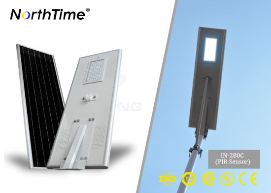 All in One Energy-Saving LED Solar Panel Street Light 80W pictures & photos