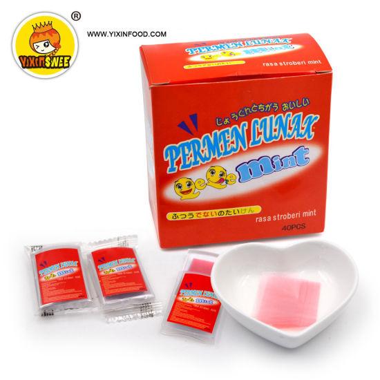 Girl Design Halal Strawberry Mint Flavor OEM Bubble Gum