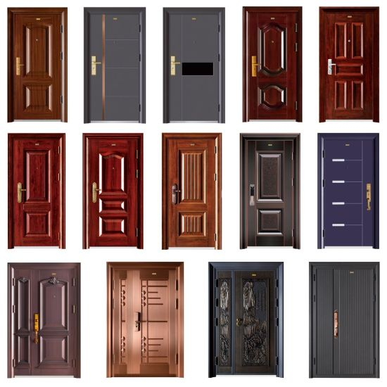 Hot Selling China Factory Security Steel 6 Panel Door Design Used Exterior Doors For Sale China Front Door Entrance Gate