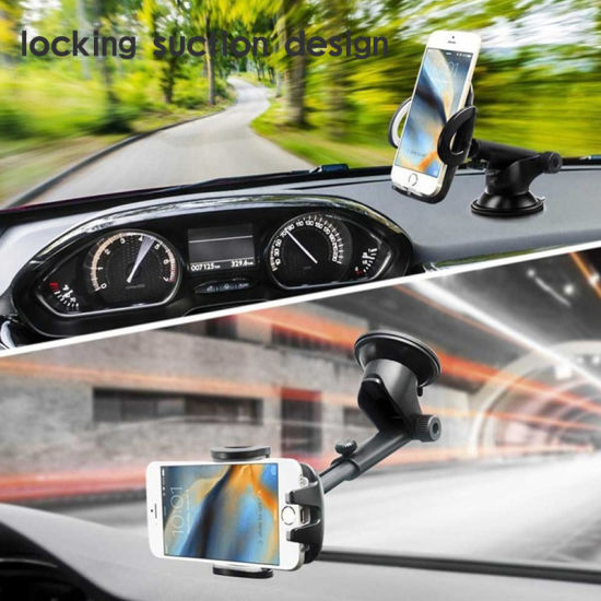 Hot Sale Car Phone Holder 360 Degree Suction Cup Car Phone Mount Dashboard Cell Phone Holder