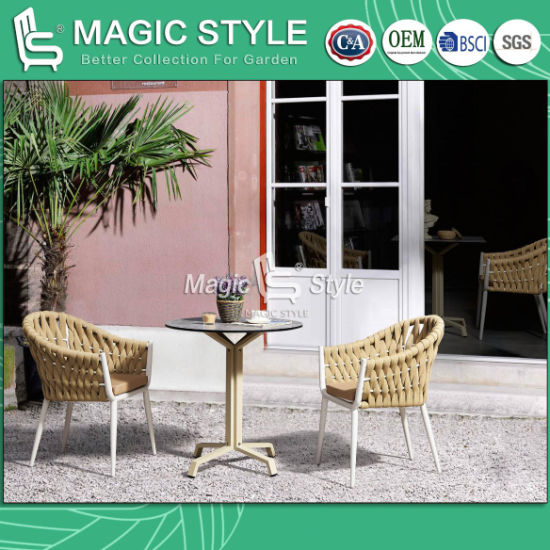 Outdoor Strip Chair with Cushion Garden Bandage Chair Coffee Stackable  Chair Patio Furniture