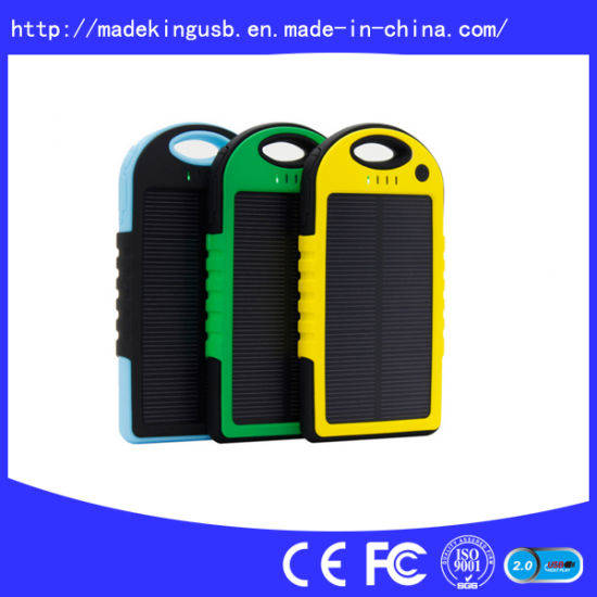 Solar Power Bank 5000mAh with Big Sun Panels pictures & photos