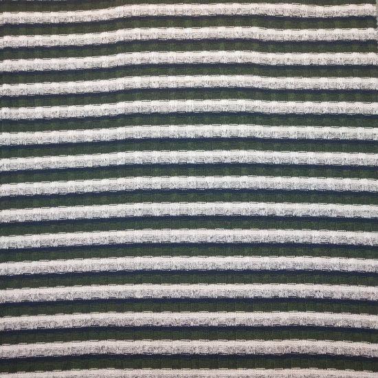 Black & White 4*2 Yarn Dye Rib P/R/Sp 58/38/4 225GSM Knit Fabric with Soft Hand Feeling