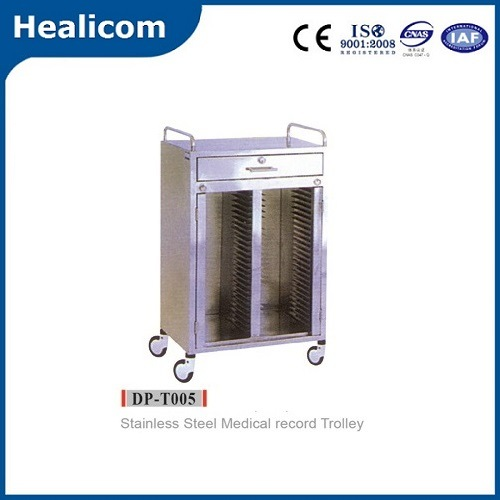 High Quality Stainless Steel Medical Record Trolley