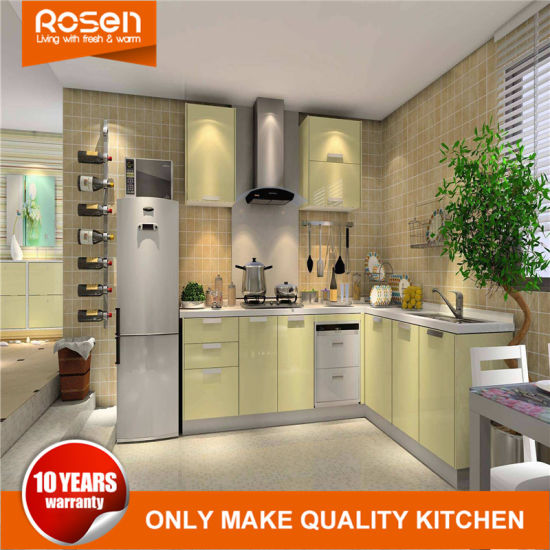 Best Yellow Spray Painting Finish Kitchen Furniture Cabinets