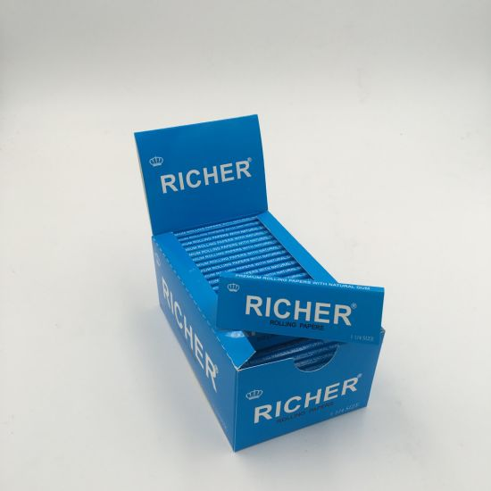Richer 14-24GSM Premium Cigarette Tobacco Smoking Rolling Paper pictures & photos