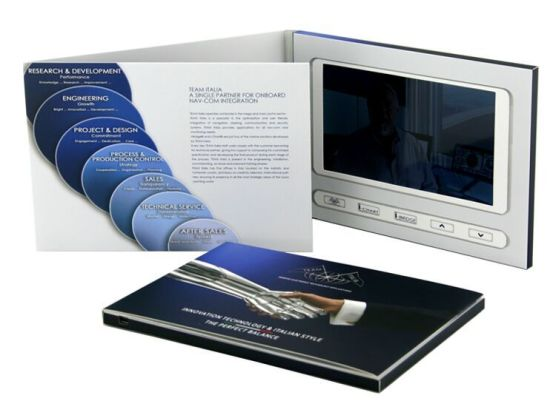 Paper Cover 5.0 Inch LCD Video Greeting Card, Video Brochure pictures & photos