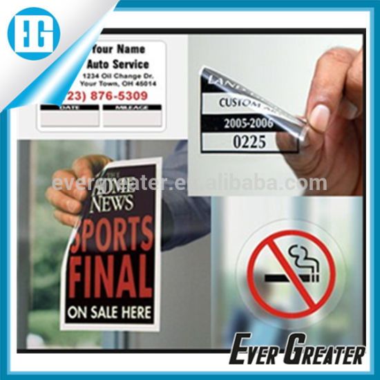 Custom Static Cling Vinyl Sticker Cut Window Stickers Pictures Photos