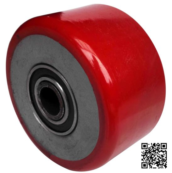 100X75mm Red PU on Iron Core Heavy Duty Wheel pictures & photos